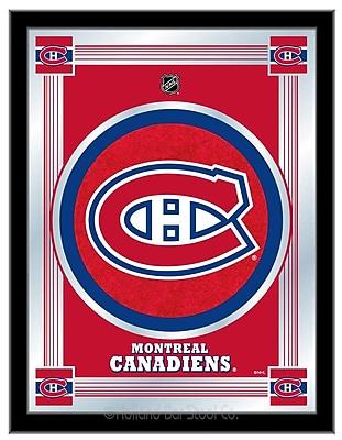 Holland Bar Stool NHL Logo Mirror Framed Graphic Art; Montreal Canadiens