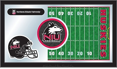 Holland Bar Stool NCAA Football Mirror Framed Graphic Art; Northern Illinois
