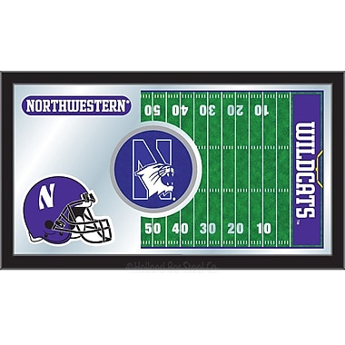 Holland Bar Stool NCAA Football Mirror Framed Graphic Art; Northwestern
