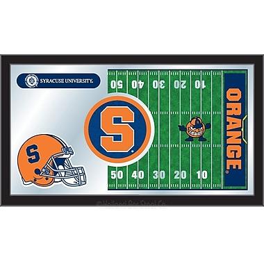 Holland Bar Stool NCAA Football Mirror Framed Graphic Art; Syracuse