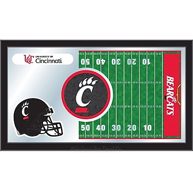 Holland Bar Stool NCAA Football Mirror Framed Graphic Art; Cincinnati