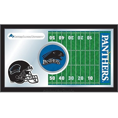Holland Bar Stool NCAA Football Mirror Framed Graphic Art; Eastern Illinois