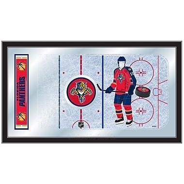 Holland Bar Stool NHL Hockey Rink Mirror Framed Graphic Art; Florida Panthers