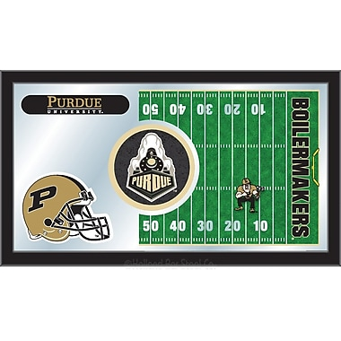 Holland Bar Stool NCAA Football Mirror Framed Graphic Art; Purdue