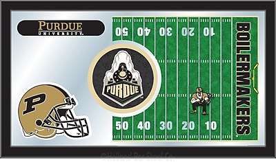 Holland Bar Stool NCAA Football Mirror Framed Graphic Art; Purdue