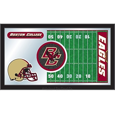 Holland Bar Stool NCAA Football Mirror Framed Graphic Art; Boston College