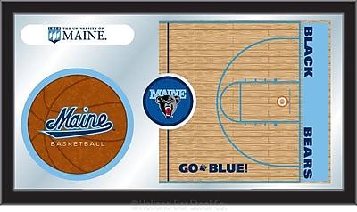 Holland Bar Stool NCAA Basketball Mirror Framed Graphic Art; Maine