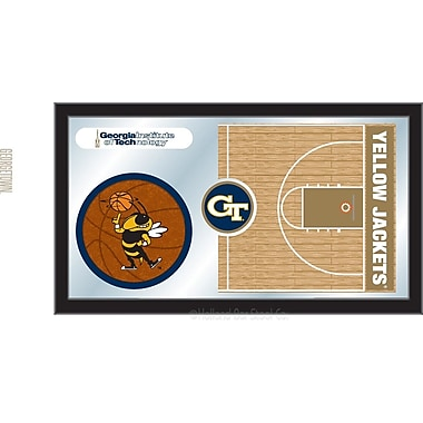 Holland Bar Stool NCAA Basketball Mirror Framed Graphic Art; Georgia Tech