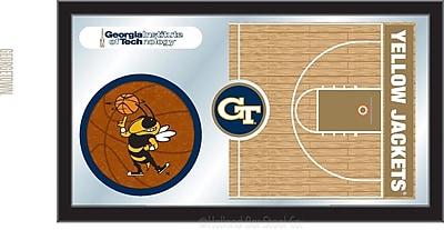 Holland Bar Stool NCAA Basketball Mirror Framed Graphic Art; Georgia Tech