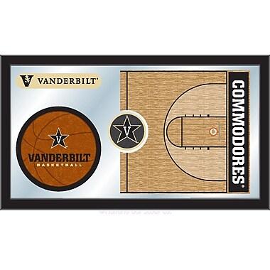 Holland Bar Stool NCAA Basketball Mirror Framed Graphic Art; Vanderbilt