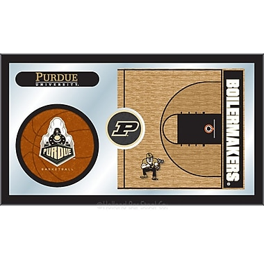 Holland Bar Stool NCAA Basketball Mirror Framed Graphic Art; Purdue