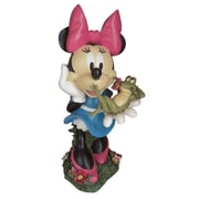 Woods International Disney Minnie Mouse w/ Frog Friend Statue