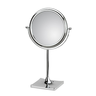 WS Bath Collections Mirror Pure Doppiolo Magnifying Cosmetic Mirror; 3X