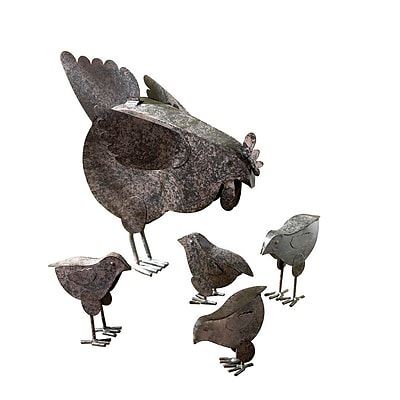 Zingz & Thingz Hen and Chicks 5 Piece Garden Statue Set