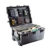 "Pelican™ 31.3"" x 24.2"" x 17.5"" Transport Case With Padded Dividers, Black"