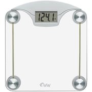 "Conair® Weight Watchers® WW39 1 1/2"" LCD Digital Glass Weight Scale With Stainless Steel Accents"