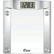 "Conair® Weight Watchers® WW44N 1 1/2"" LCD Digital Glass Weight Scale With Polished Chrome Design"