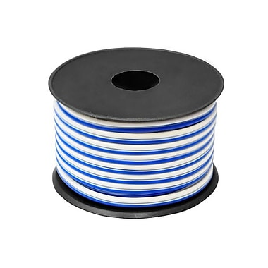 Pyle® 50' High Performance Marine Grade Audio Cable, Blue/White