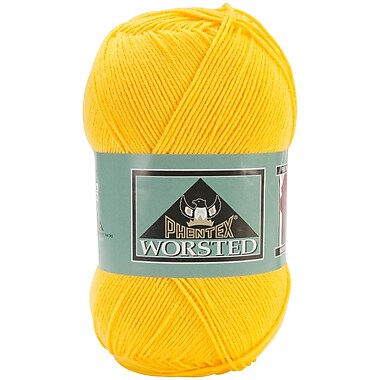 Phentex Worsted Solids Yarn, Sol (yellow)