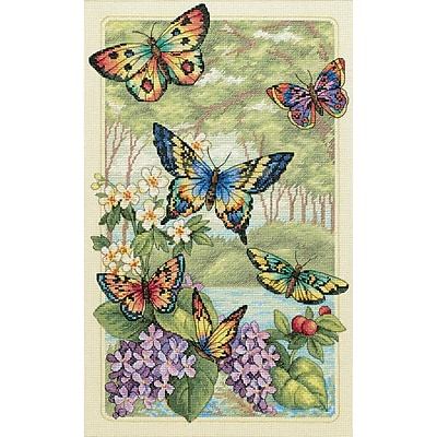 Gold Collection Butterfly Forest Counted Cross Stitch Kit, 10