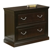 Martin Home Furnishings Kathy Ireland 2 Drawer Lateral File, Brown,Letter/Legal, 32''W (FL450)
