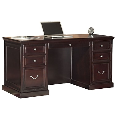Kathy Ireland Home By Martin Furniture Fulton E Saver Pedestal Executive Desk Espresso Fl660
