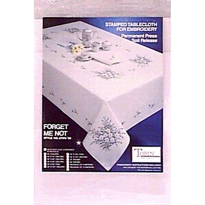 Forget Me Not Stamped Napkins For Embroidery, 17