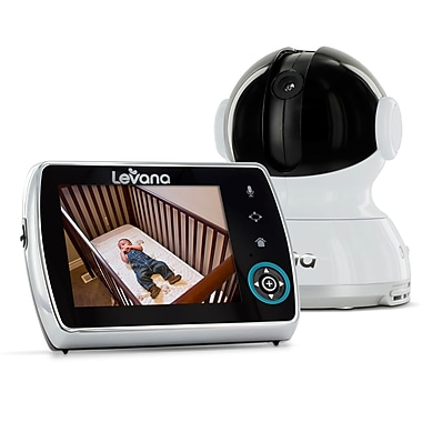 Levana® Keera™ LCD, Pan/Tilt/Zoom Digital Baby Video Monitor with 24hr Battery, 3.5