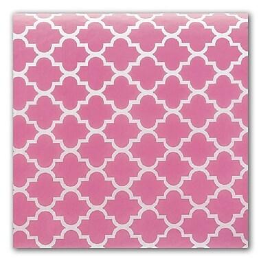 Bags & Bows® Tissue Paper, Pink Quatrefoil, 20