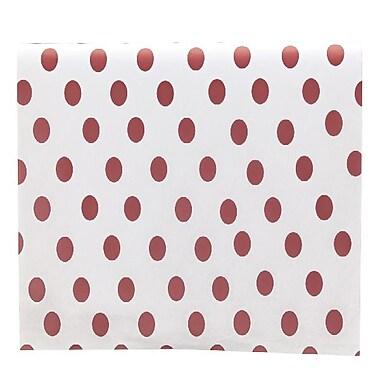 Bags & BowsMD – Papier de soie, pois rouges, 20 x 30 po, paquet de 200