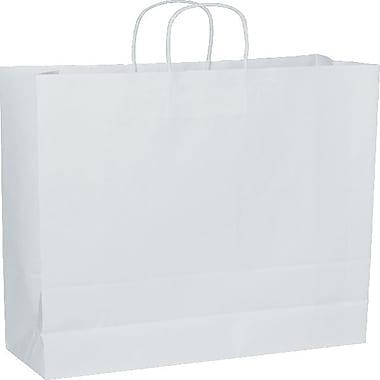Bags & BowsMD – Sacs de magasinage Mini Cub, 5 1/4 x 3 1/2 x 8 1/4 po, blanc, 250/paquet