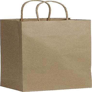 Bags & BowsMD – Sacs de magasinage en papier recyclé pour bouteille de vin, 5 1/4 x 3 1/2 x 13 (po), papier kraft, 250/paquet