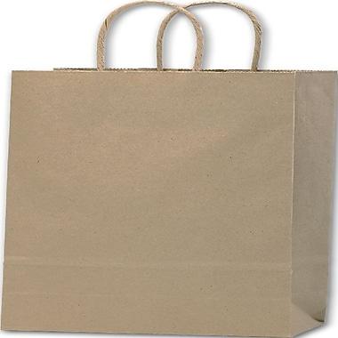 Bags & BowsMD – Sacs de magasinage en papier double pour bouteille de vin, 6 1/2 x 3 1/2 x 13 (po), papier kraft, 250/paquet