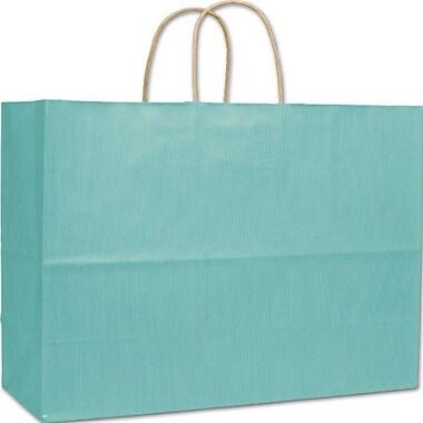 Bags & BowsMD – Sacs à rayures vernies, 16 po x 6 po x 12 1/2, écume de mer, 250/paquet