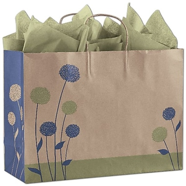 Bags & BowsMD – Sacs de magasinage Painted Posies, 100/paquet