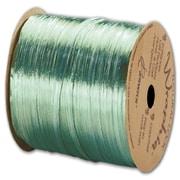 "Bags & Bows Pearlized Wraphia Ribbon, 1/4"" x 100 Yds, Emerald"