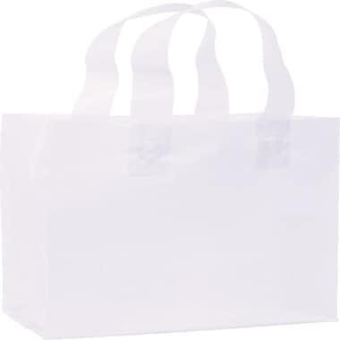 Bags & BowsMD – Sacs de magasinage givrés haute densité, 8 x 4 x 10 po, 250/paquet