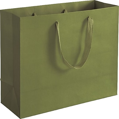 Bags & Bows® Manhattan Eco Euro-Shoppers, Greenwich Green, 100/Pack