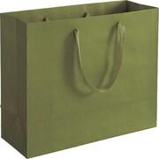 Bags & Bows® Manhattan Eco Euro-Shoppers, Greenwich Green, 100/Pack
