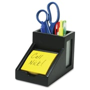 "Victor Pencil Cup with Note Holder, 4-1/2""(H) x 4""(W) x 6-5/16""(D), Black"