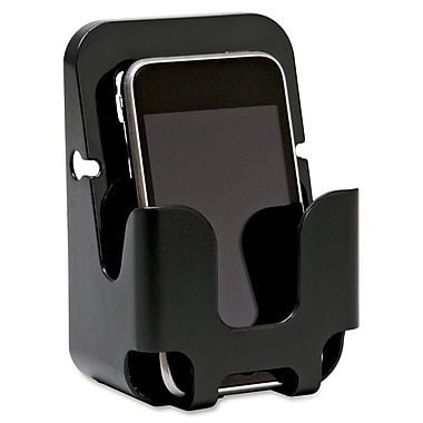 Lorell Cubicle Wall Recycled Cell Phone Holder, Black