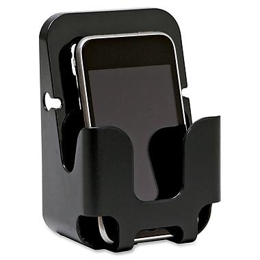 Lorell – Porte-téléphone cellulaire recyclé pour mur d'alcôve, noir