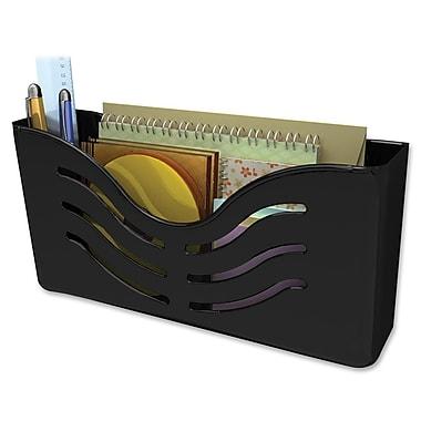 Deflecto – Range-tout mural magnétique, 5 haut. x 10 larg. x 2 3/5 prof. (po), noir