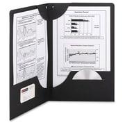 Smead Lockit – Chemise à 2 pochettes, 8,5 po x 11 po, capacité de 250 feuilles, 25/paquet, noir