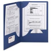 Smead Lockit – Chemise à 2 pochettes, 8,5 po x 11 po, capacité de 250 feuilles, bleu