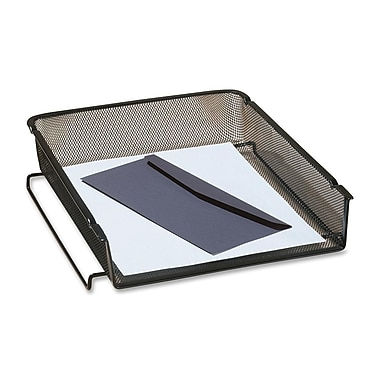 Rolodex Expressions 1-Tier Mesh Front Load Letter Desk Tray, Black