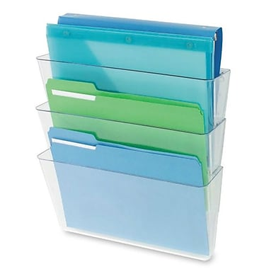 Deflect-O – Porte-documents DocuPocket® mural empilable, format lettre, transparent