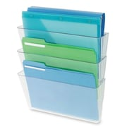 "Deflect-o Three Pack Stackable Letter Wall 3-Pocket, 14""(H) x 13""(W) x 4""(D)"