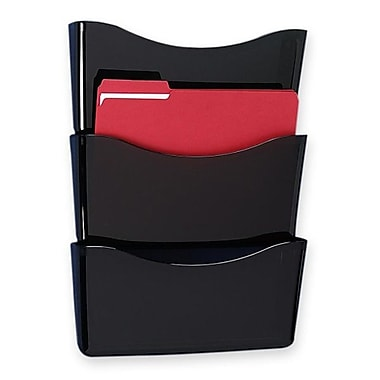 Rubbermaid 3-Pocket Decker Wall File, 19-9/10