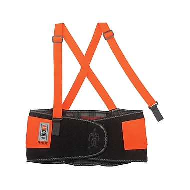 Ergodyne® ProFlex® 100 Economy Hi-Visibility Back Support, Orange, 2XL